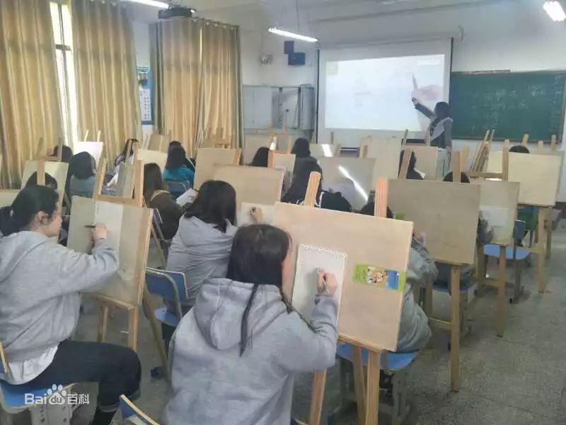 长沙市湘华中等职业学校画室