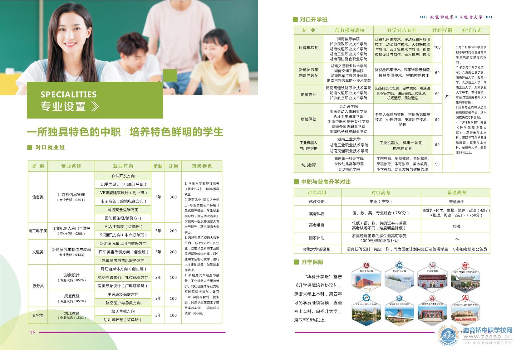 湖南华科技工学校2021年招生简章
