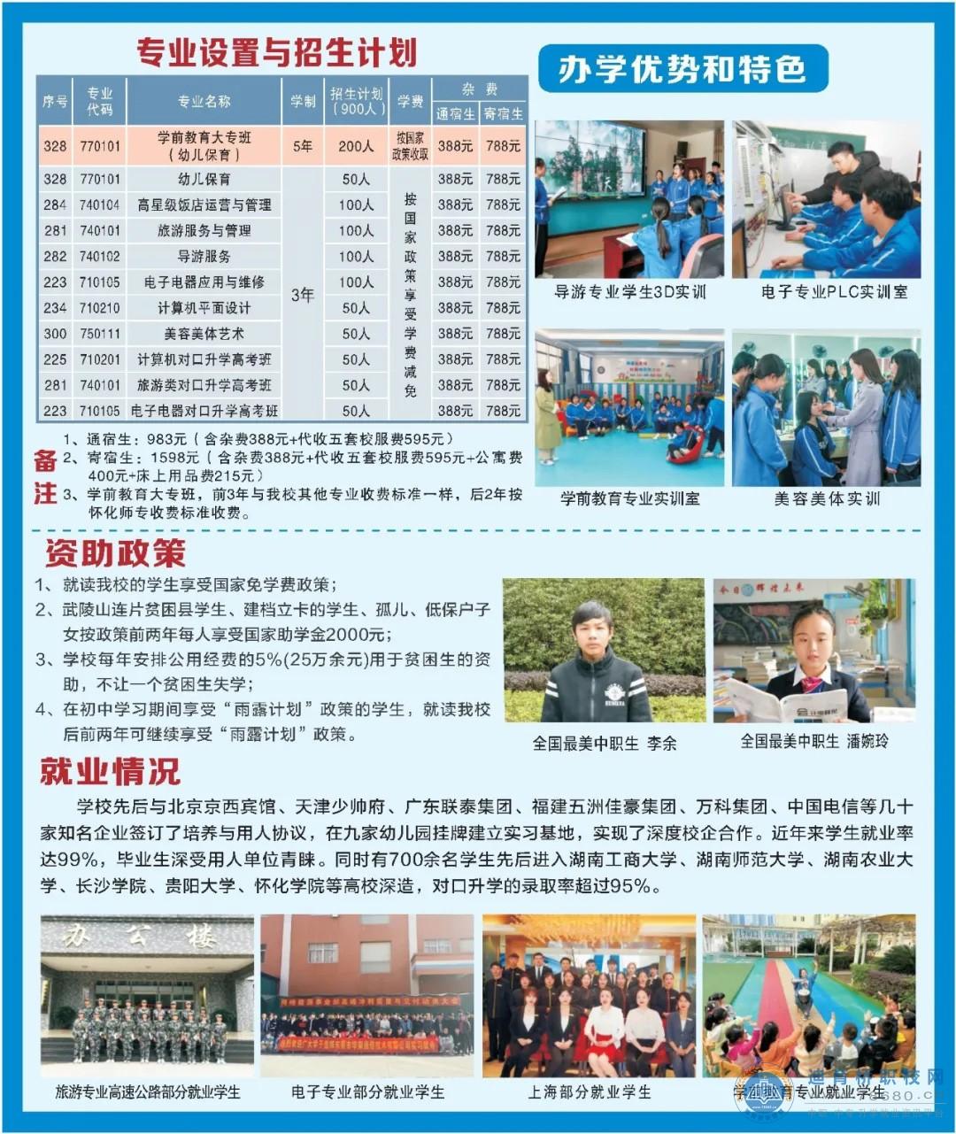 怀化市旅游学校2021年招生简章
